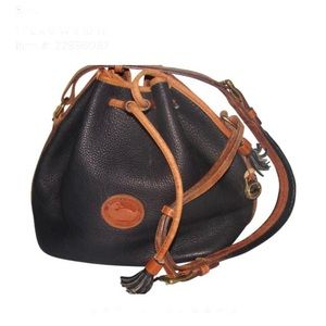 Vintage Dooney and Bourke Pebbled Leather Satchel